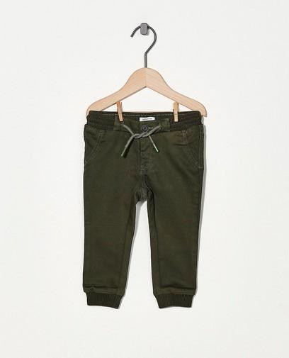 Pantalon vert en sweat denim
