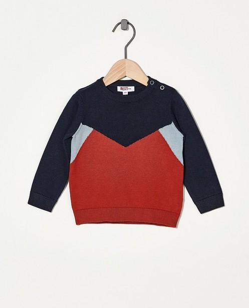 Pull en tricot BESTies - bleu, brun et gris - Besties