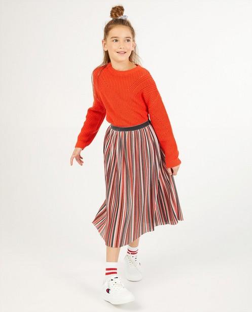 Pull rouge en tricot - à grosses mailles - Fish & Chips