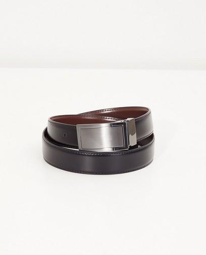 Zwart-bruine omkeerbare riem