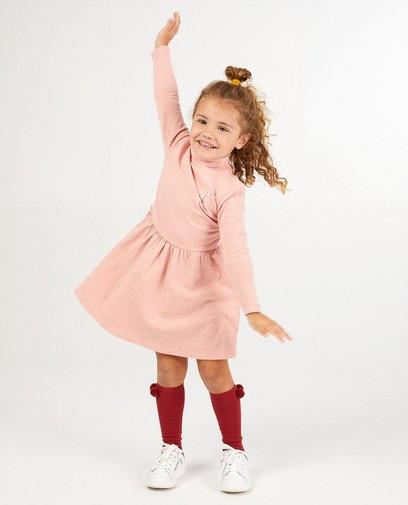 Roze jurk van biokatoen