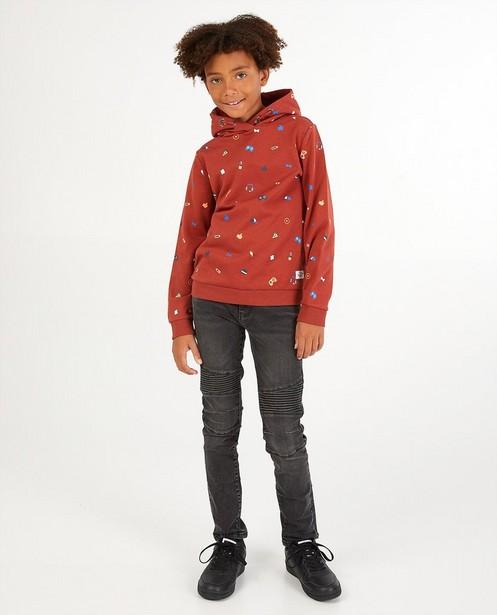 Rode hoodie Dylan Haegens - met print - Dylan Haegens