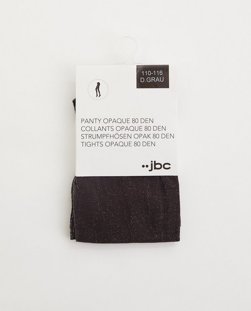 Collants gris avec fil métallisé, 2-7 ans - stretch - JBC