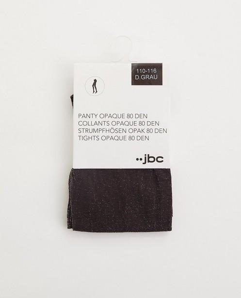 Collants gris avec fil métallisé, 7-14 ans - stretch - JBC