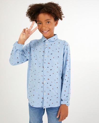 Blaues Hemd mit Print Dylan Haegens