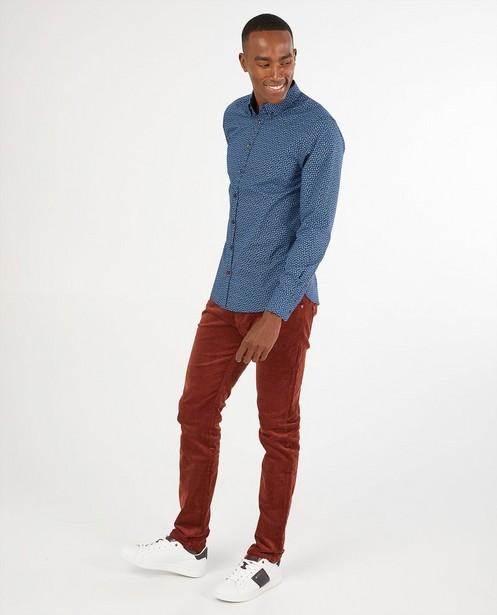 Blauw hemd met print Hampton Bays - allover - Hampton Bays