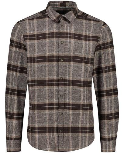 Bruin hemd met ruitpatroon