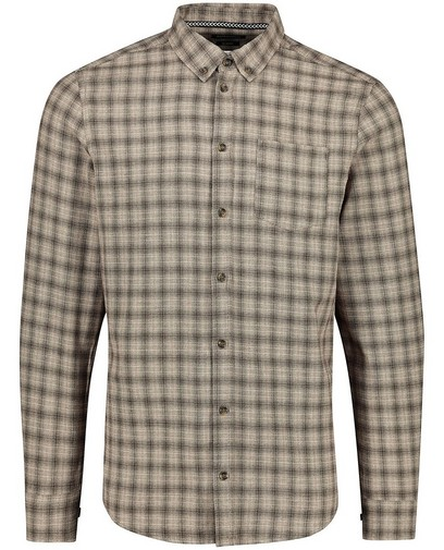 Grijs hemd met ruitpatroon