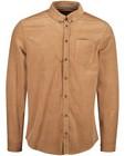 Hemden - Bruin hemd van ribfluweel
