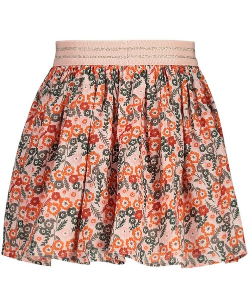 Rokken - Roze rok met bloemetjes