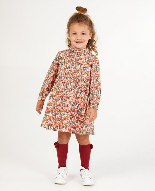 Roze jurk met bloemenprint - allover - Milla Star