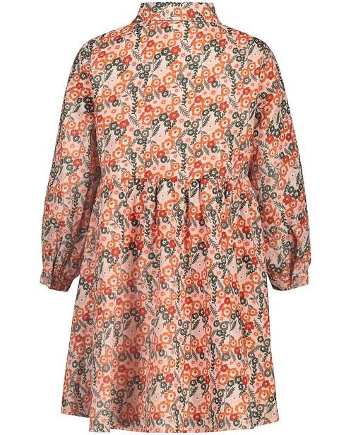 Kleedjes - Roze jurk met bloemenprint