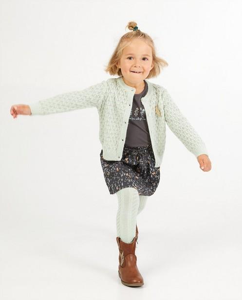 Cardigan vert clair - en fin tricot - Milla Star