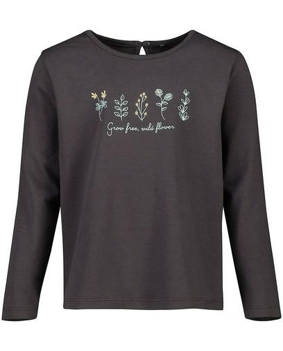 T-shirt à manches longues gris en coton bio