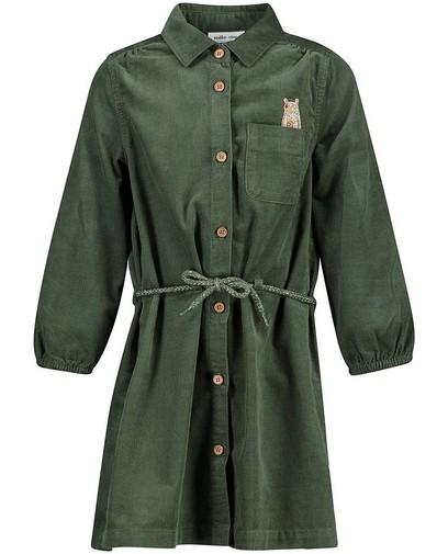 Groene jurk van ribfluweel