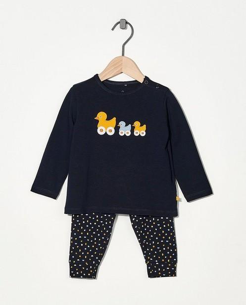 2-delige pyjama van biokatoen - in blauw - Cuddles and Smiles