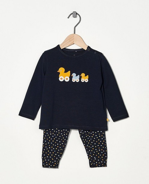 Pyjama en coton bio, 2 pièces - bleu - Cuddles and Smiles