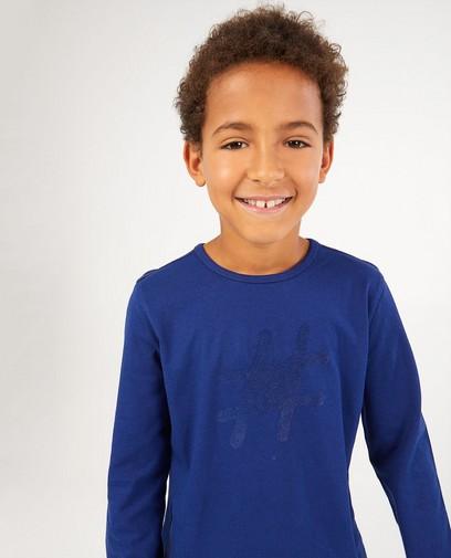 T-shirt bleu à manches longues #LikeMe