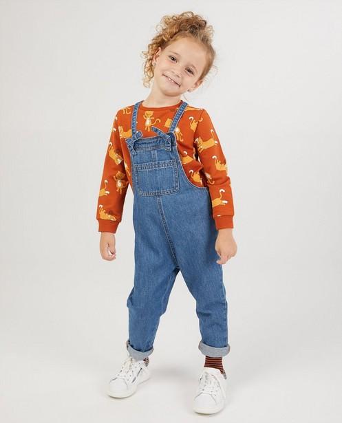 Blauwe jeanssalopette - lichte wassing - Milla Star