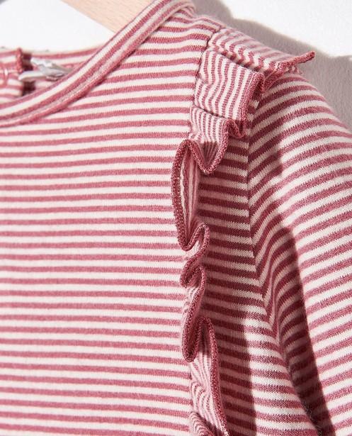 T-shirts - Gestreepte longsleeve van biokatoen