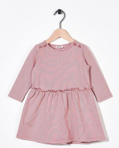 Gestreepte jurk van biokatoen