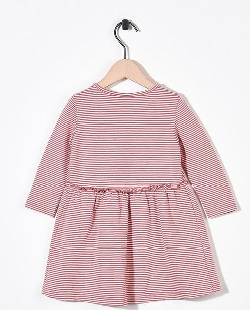 Kleedjes - Gestreepte jurk van biokatoen