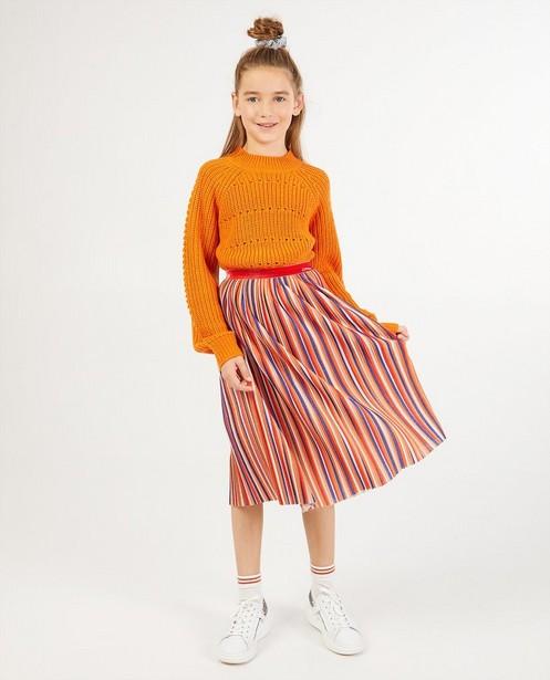 Pull orange ajouré BESTies - stretch - Besties