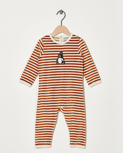 Gestreepte pyjama Bumba - bruin en wit - Bumba
