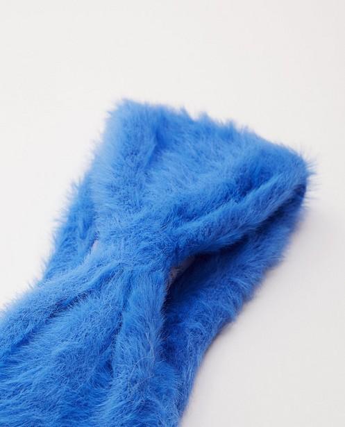 Strickware - Blaues Stirnband