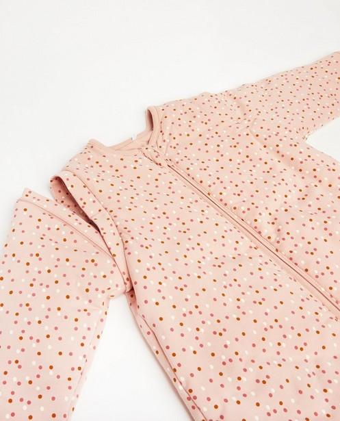 Accessoires pour bébés - Roze slaapzak met stippenprint