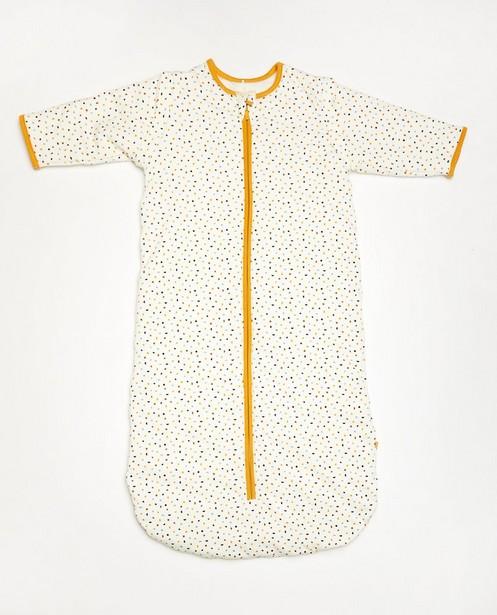 Weißer Schlafsack aus Biobaumwolle - mit durchgehendem Print - Cuddles and Smiles