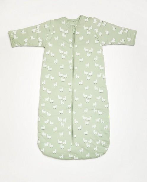 Hellgrüner Schlafsack aus Biobaumwolle - mit durchgehendem Print - Cuddles and Smiles