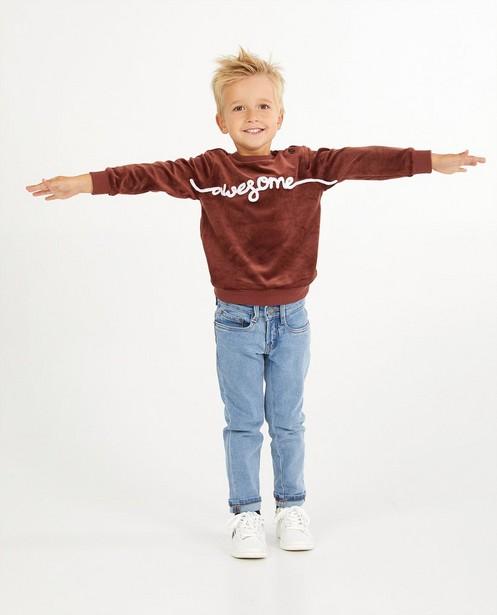 Bruine sweater met opschrift Wickie - fleece - Wickie