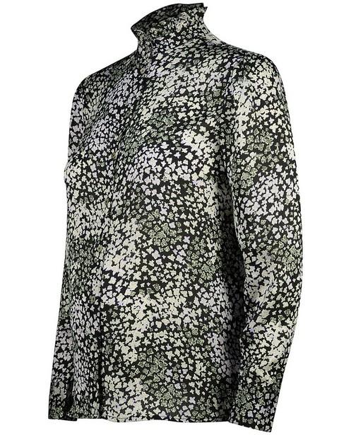 Zwart hemd met print JoliRonde - zwangerschap - Joli Ronde