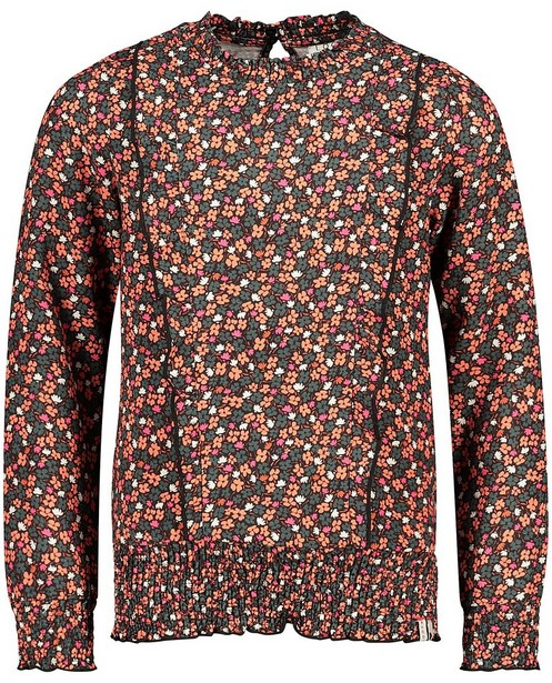 Zwarte blouse met print Looxs - allover - Looxs