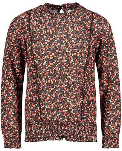 Zwarte blouse met print Looxs