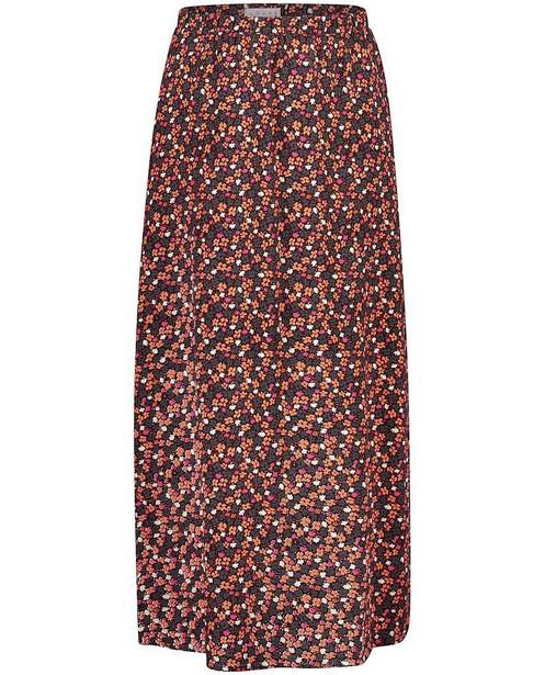 Jupe noire à imprimé fleuri Looxs - intégral - Looxs