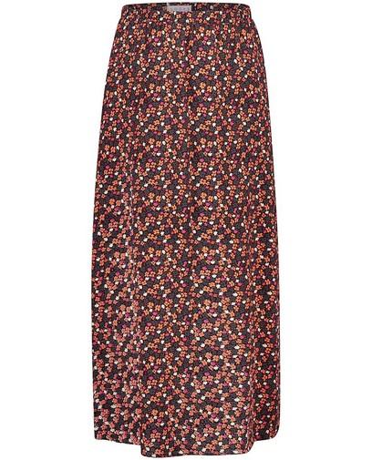 Zwarte rok met bloemenprint Looxs