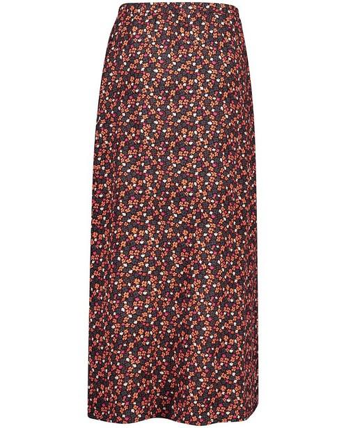 Jupes - Zwarte rok met bloemenprint Looxs