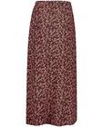 Rokken - Zwarte rok met bloemenprint Looxs