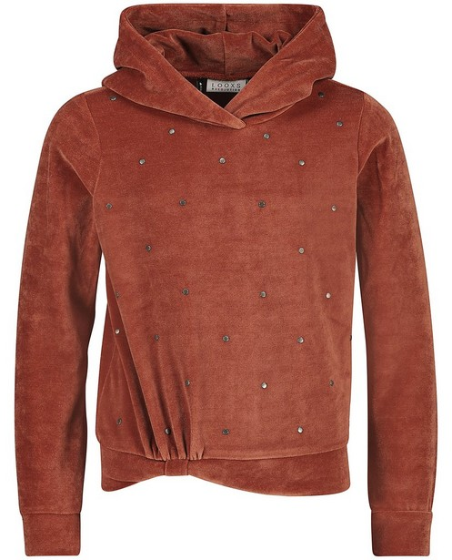Hoodie rouille Looxs - avec capuchon fixe - Looxs