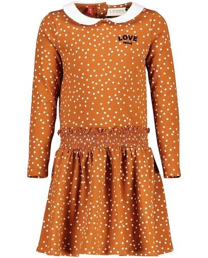 Gepunktetes Kleid mit Kragen Looxs