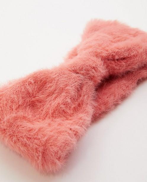 Strickware - Rosa Haarband mit Schleife