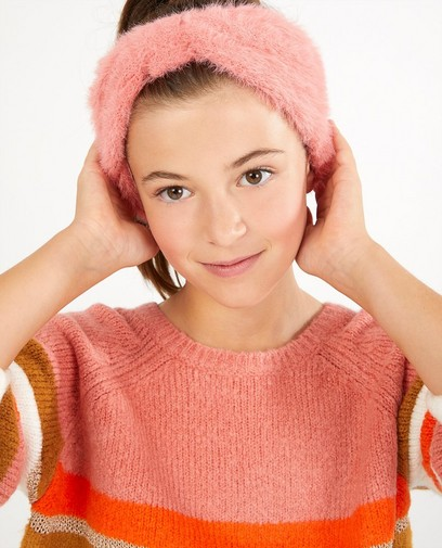 Roze haarband met strik