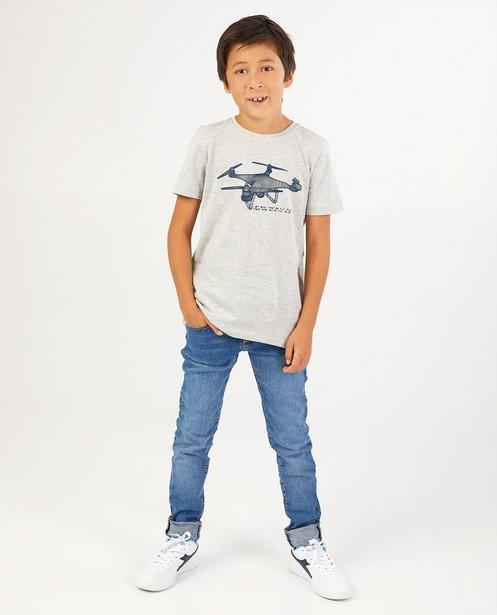 Grijs T-shirt met print BESTies - speciale print - Besties