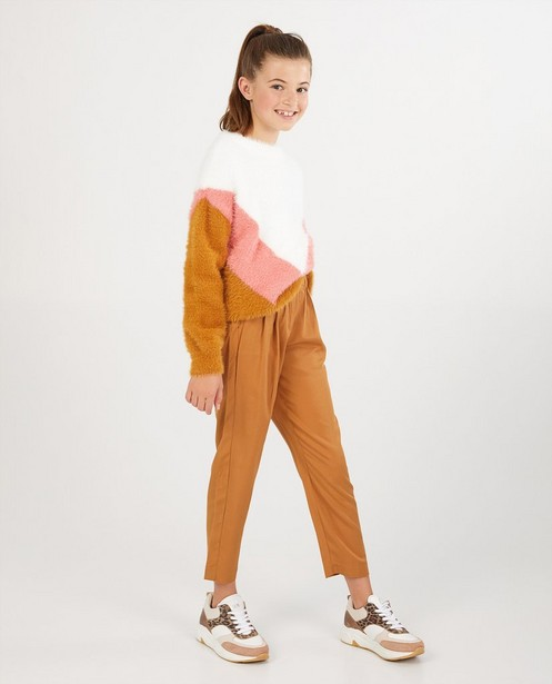 Flauschiger Pullover mit Colour-Block - Feinstrick - Fish & Chips
