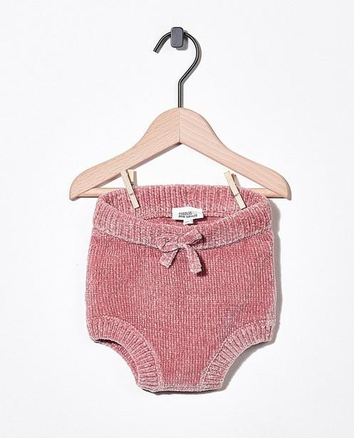 Gebreid pamperbroekje in roze - stretch - Newborn