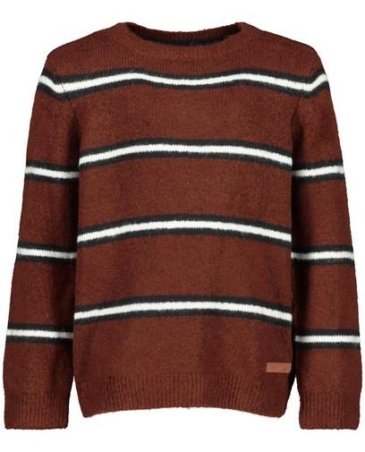 Brauner Pullover mit Streifen Wickie