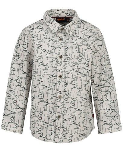 Weißes Hemd mit Print Wickie
