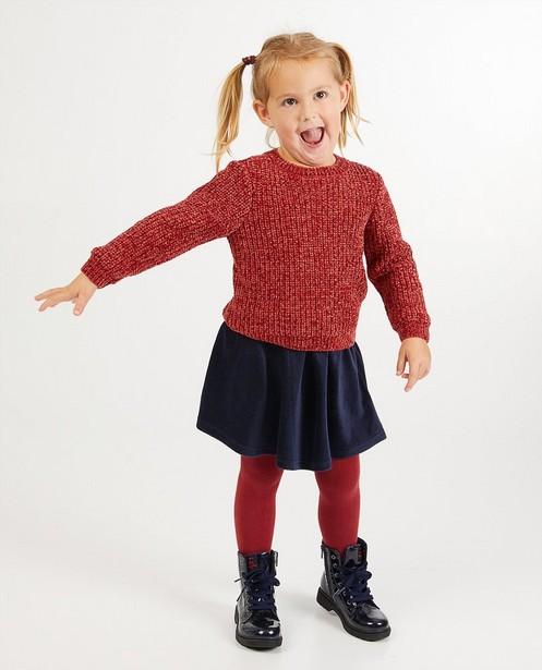 Pull rouge BESTies - fils chenille - Besties